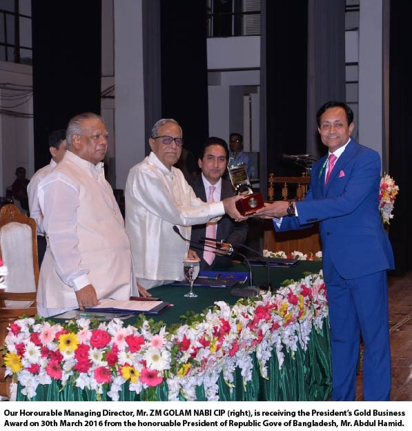 President's Gold Business Award Received
